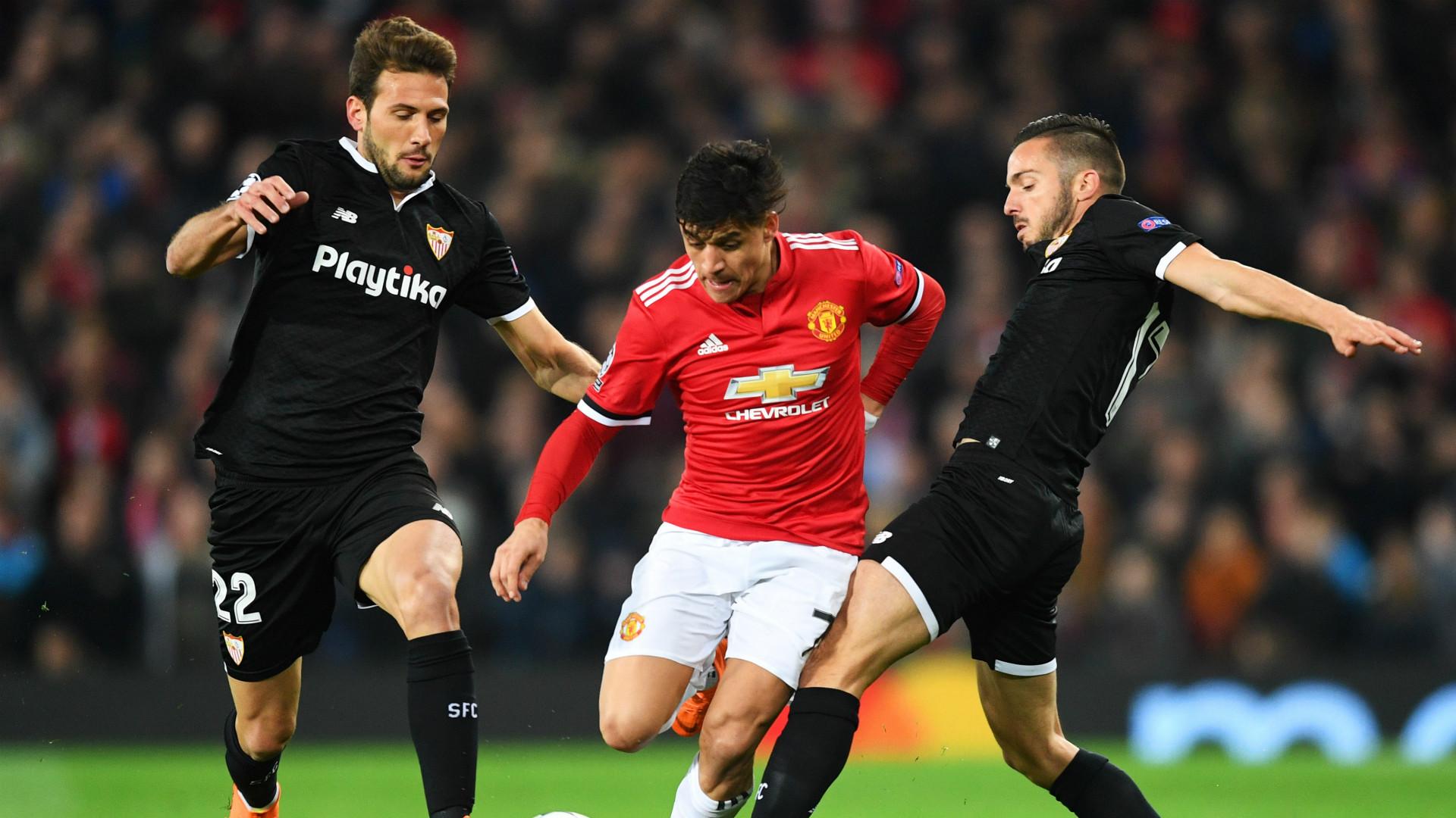 Alexis Sanchez Franco Vazquez Manchester United Sevilla Champions League