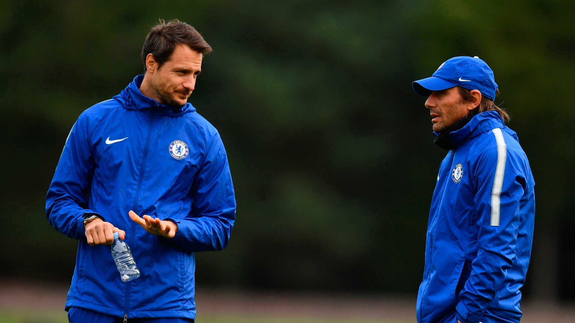Carlo Cudicini and Antonio Conte