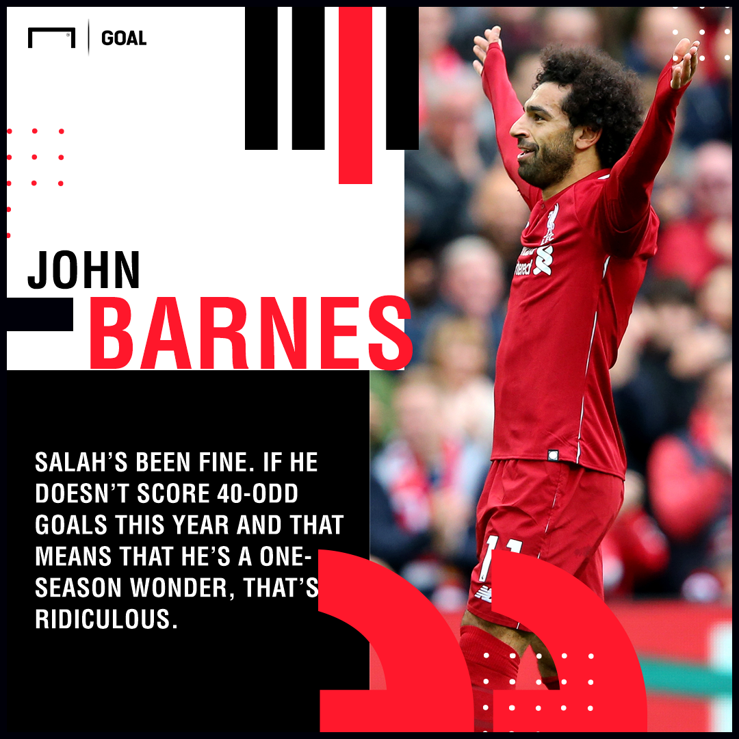 Mohamed Salah one-season wonder ridiculous John Barnes