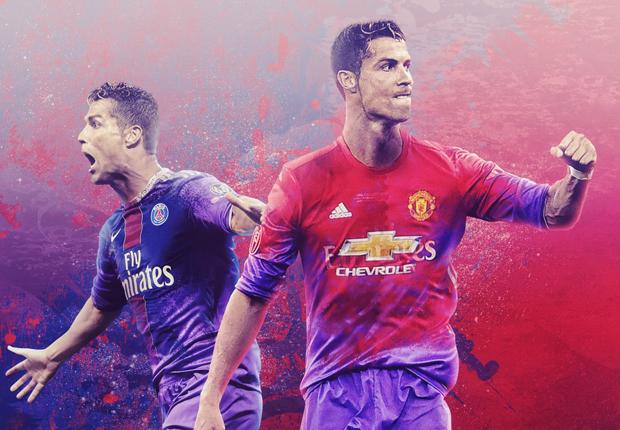Cristiano Ronaldo PSG Manchester United Real Madrid GFX