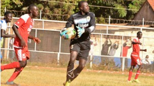 Keeper Timothy Odhiambo of Ulinzi Stars.
