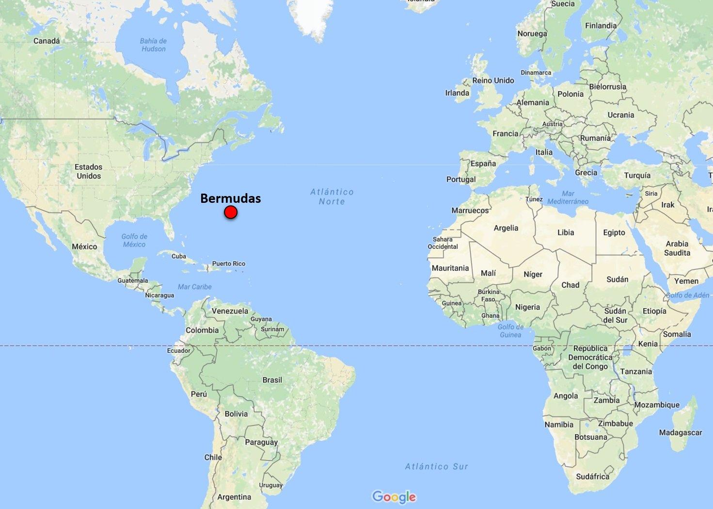 Mapa Bermudas