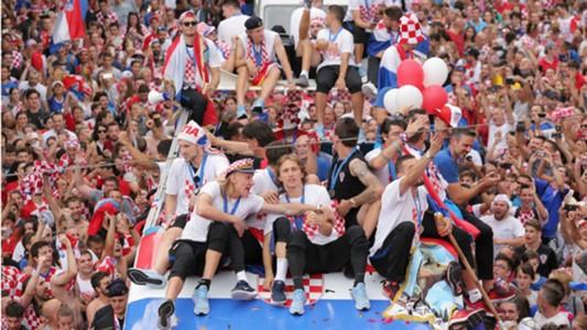Croatia players celebration parade 16072018