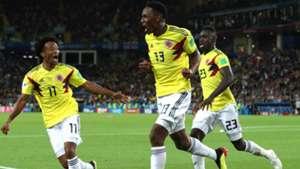Juan Cuadrado Davinson Sanchez Yerry Mina Colombia England WC Russia 03072018