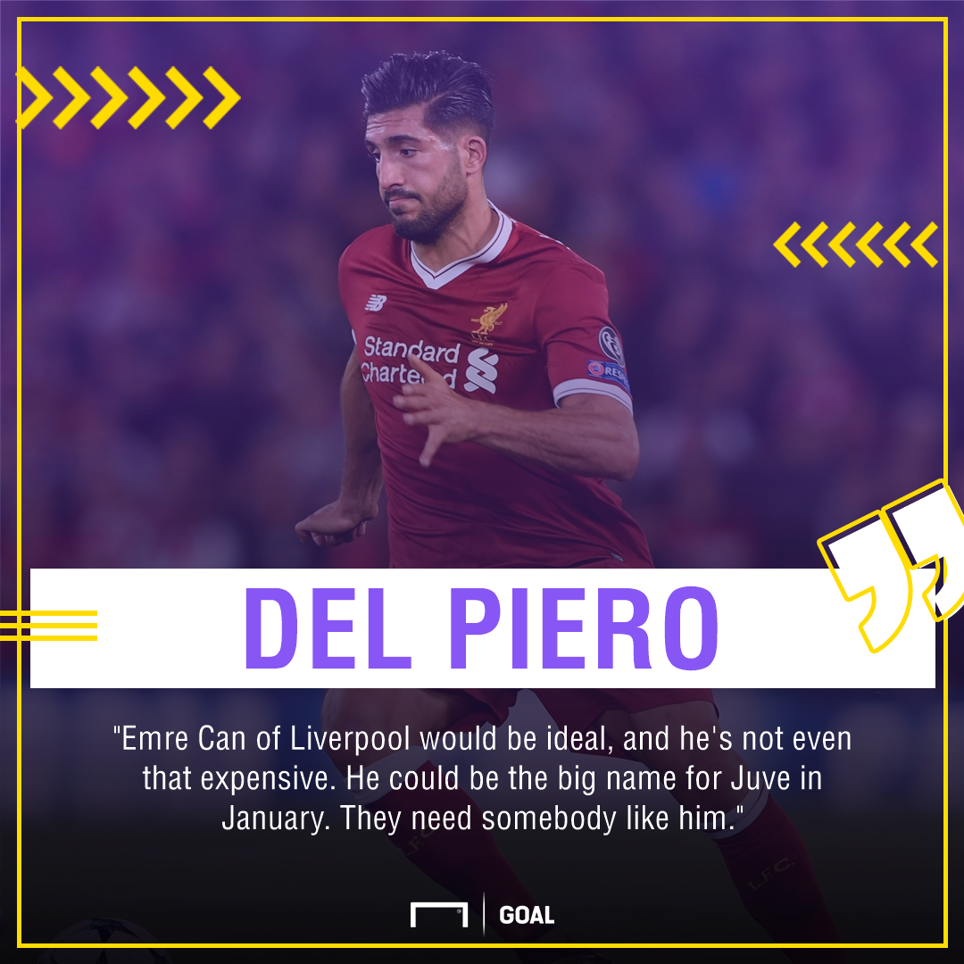 Alessandro Del Piero Emre Can ideal for Juventus