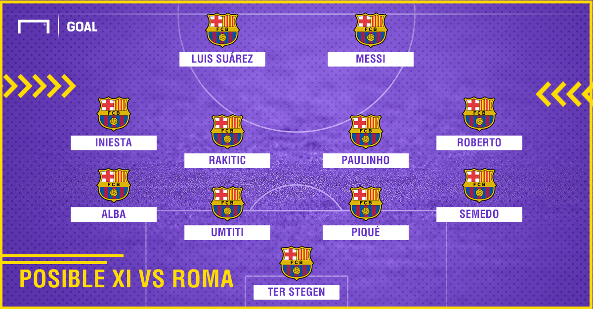 possible xi fcb vs roma