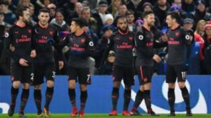 Arsenal celebrate Crystal Palace
