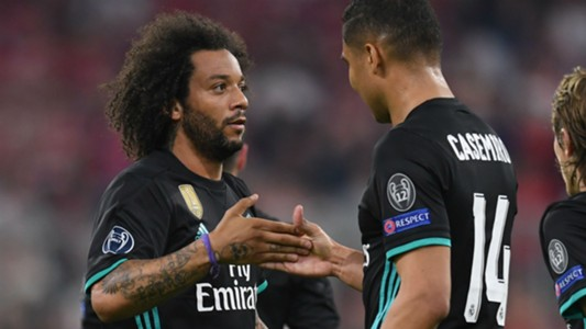 Marcelo Casemiro Real Madrid Bayern Champions League 25 04 2018