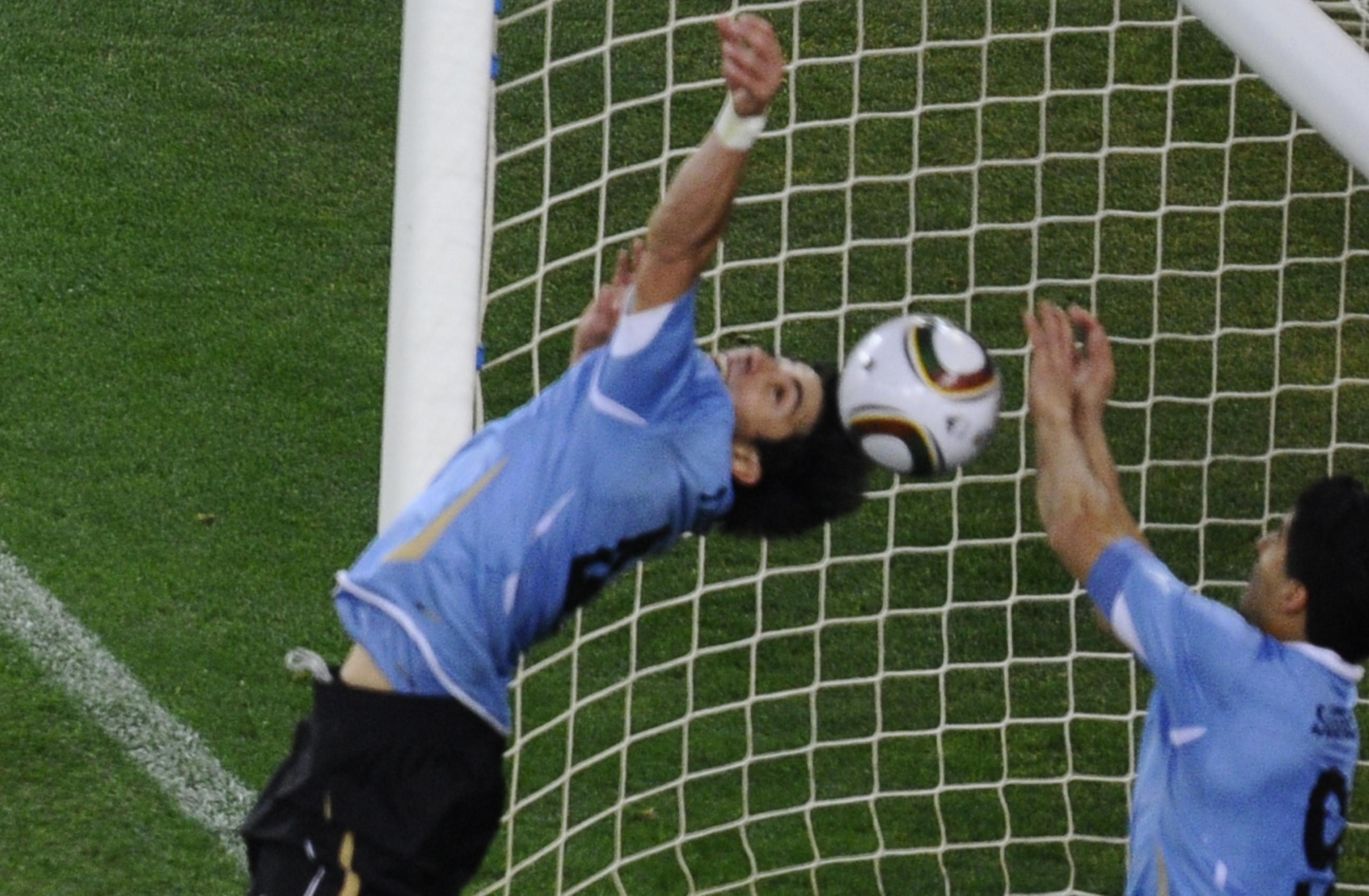 Luis Suarez Hand 2010