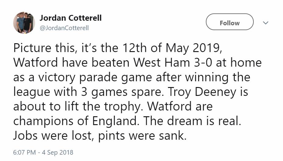 Reaction Watford