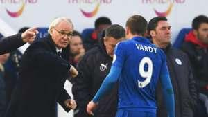 Claudio Ranieri Jamie Vardy Leicester City 05022017