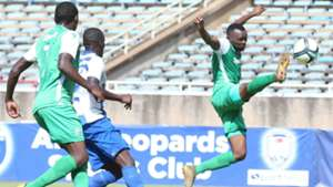 Nicholas Kipkirui and Jacques Tuyisenge of Gor Mahia v AFC Leopards.