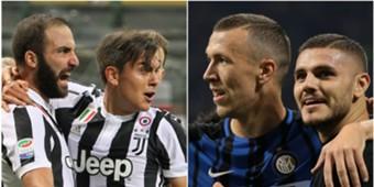 Juventus-Inter Dybala Higuain Perisic Icardi