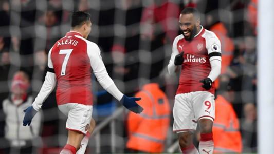 Alexis Sanchez Alexandre Lacazette Arsenal