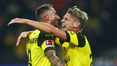Paco Alcacer Lukasz Piszczek Borussia Dortmund Bundesliga 2018