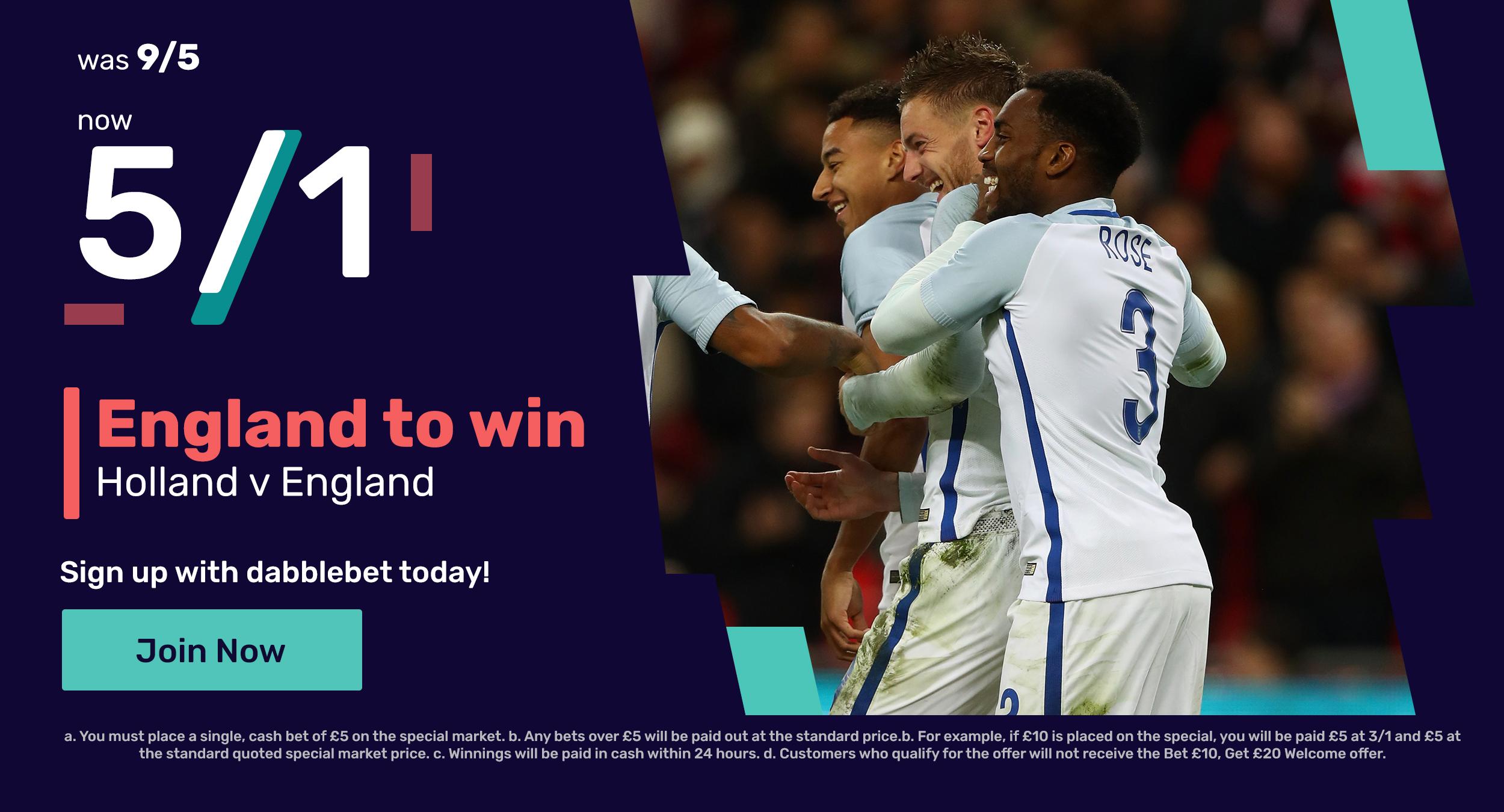 England Netherlands offer