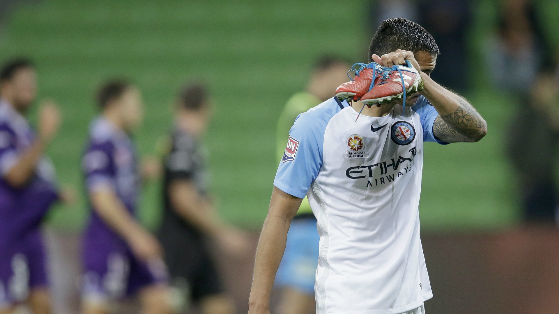Tim Cahill Melbourne City v Perth Glory A-League 23042017
