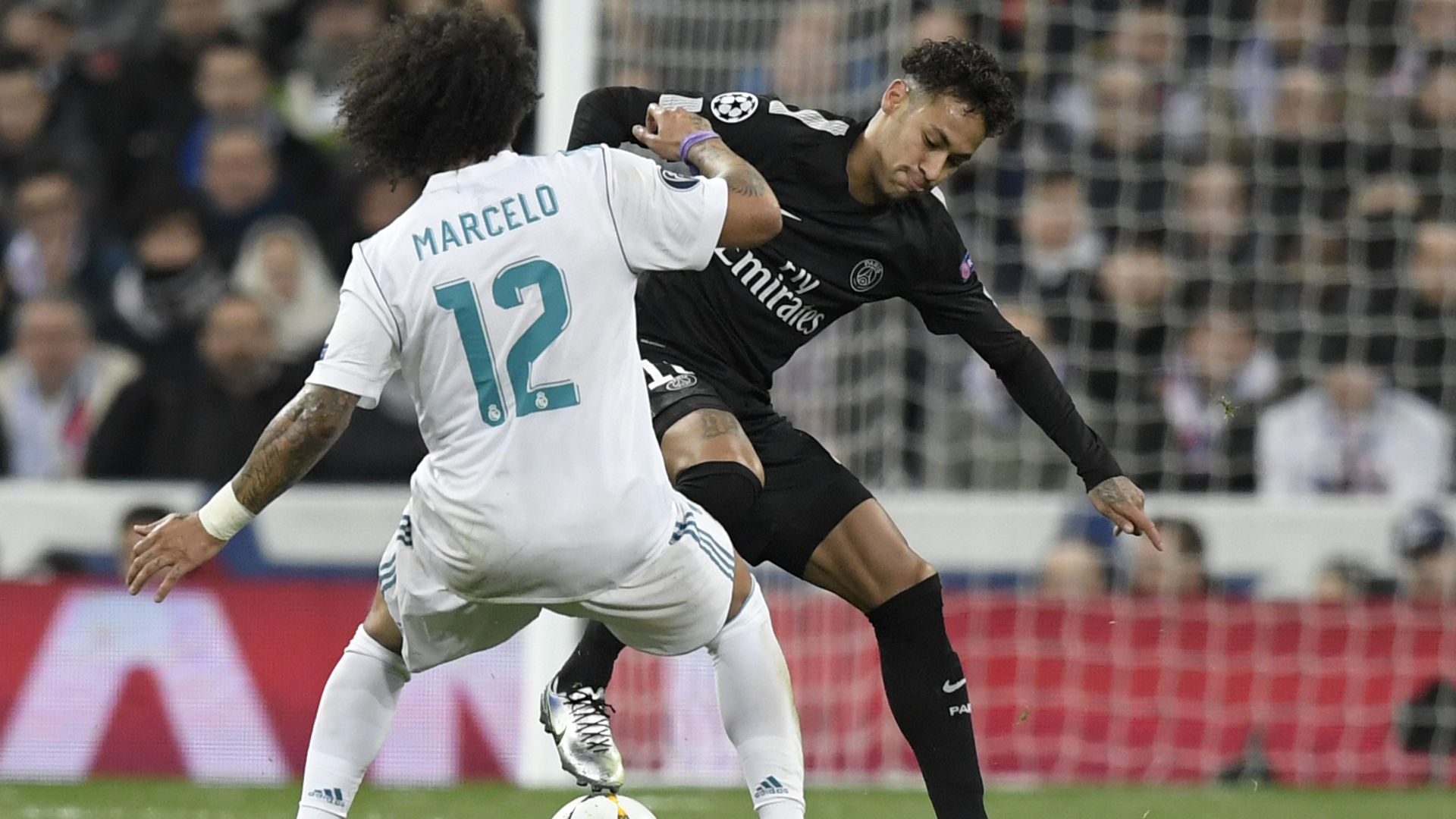Neymar Marcelo Real Madrid PSG Champions League 14022018