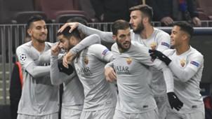 Roma celebrate vs CSKA