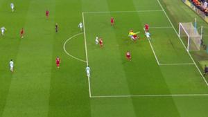 Fuera de juego Sane Manchester City Liverpoo