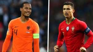 Virgil van Dijk Netherlands Cristiano Ronaldo Portugal