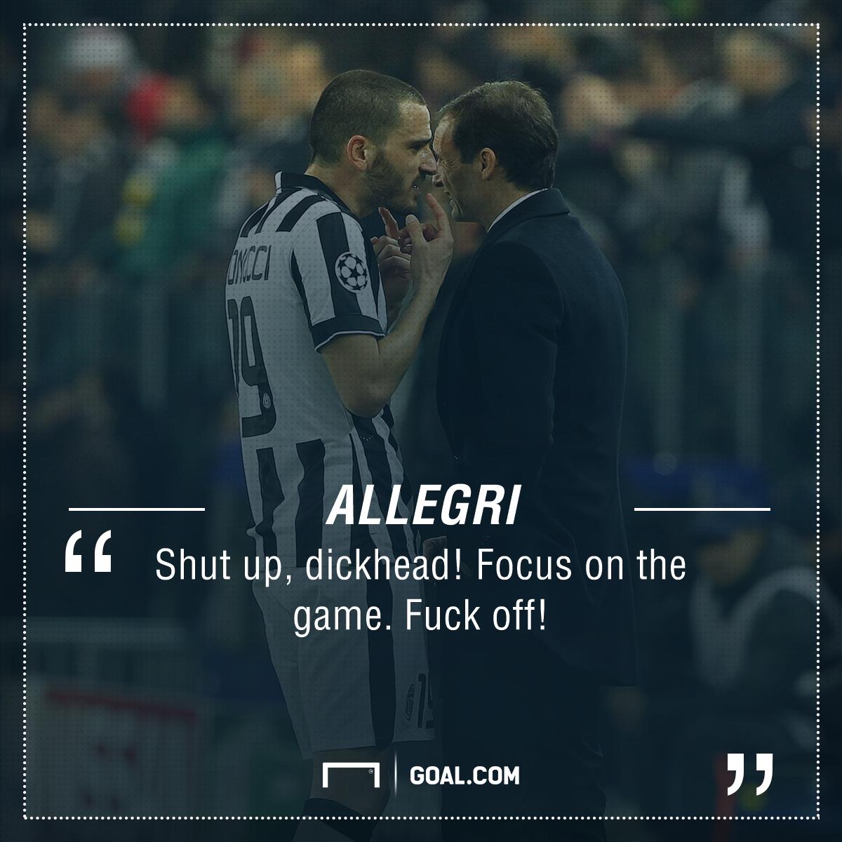 Allegri Bonucci Juventus PS