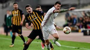 Lazaros Christodoulopoulos Alessio Romagnoli AEK Athens Milan UEFA Europa League 11022017