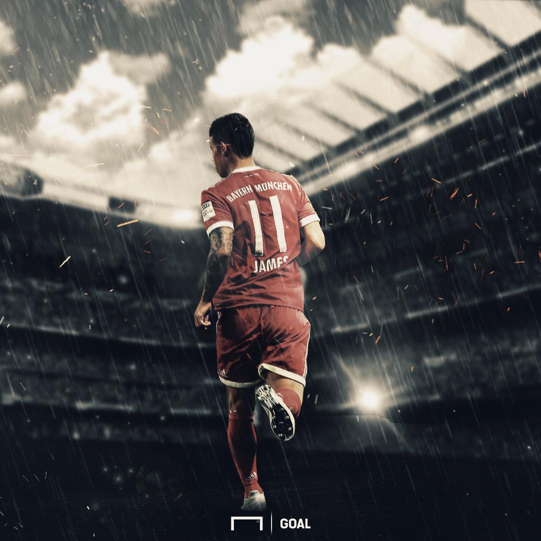 GFX Info James Rodriguez back at Santiago Bernabeu ahead the Real Madrid - Bayern Munchen