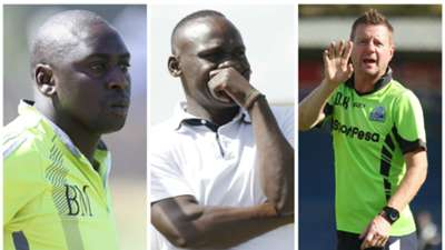KPL coaches Mwalala John Baraza and Dylan Kerr....