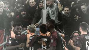 Milan celebrates Franck Kessie vs. Lazio