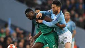 Victor Wanyama of Tottenham v David Silva of Manchester City