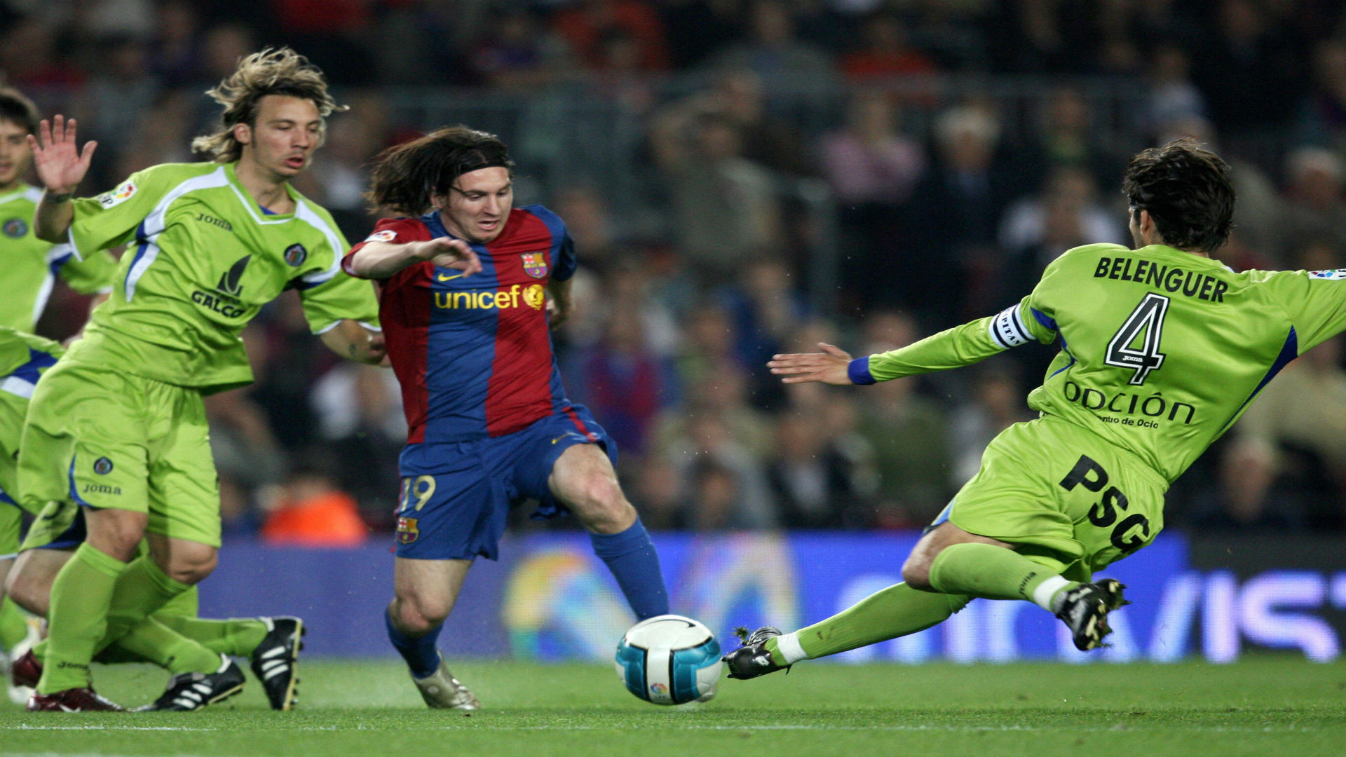 Messi Getafe Maradona