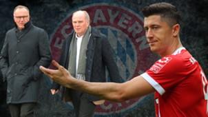 Hoeneß Lewandowski Rummenigge FC Bayern GFX