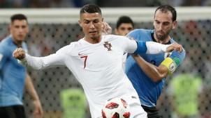 Godín Cristiano Ronaldo Portugal Uruguai Copa do Mundo 30 06 2018