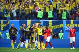 Sweden fans celebrate