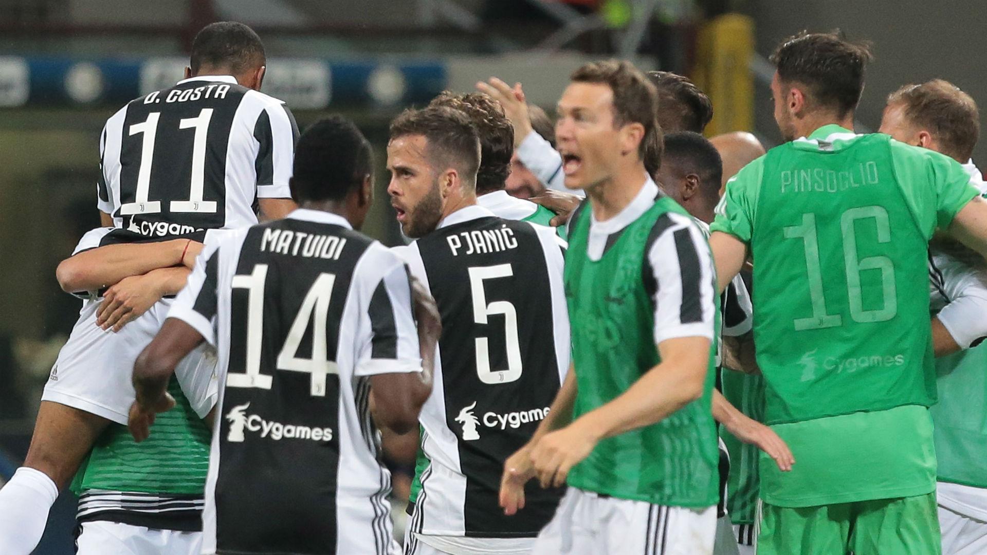 Juventus celebration vs Inter