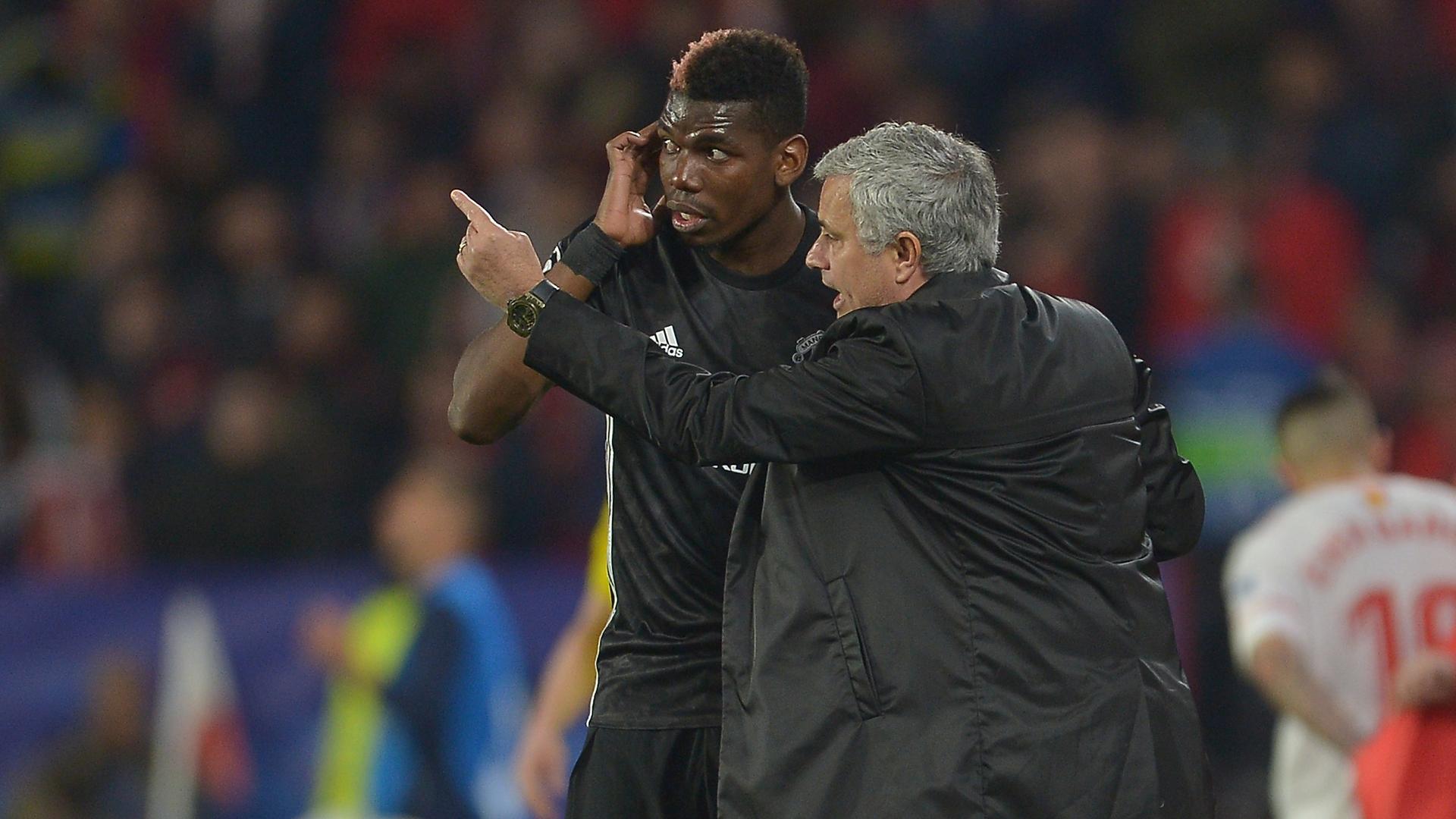 Paul Pogba Jose Mourinho Manchester United
