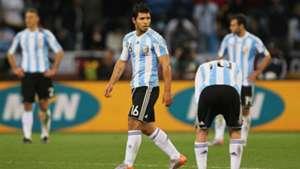 Sergio Aguero Argentina Alemania World Cup 2010
