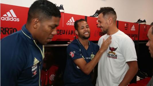 Diego Alves Geuvânio chegada Flamengo 17 07 2017