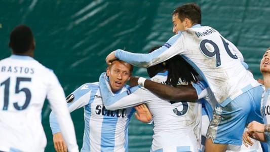Lazio celebrating Zulte Waregem Lazio Europa League