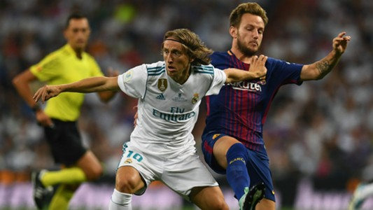 Luka Modric Ivan Rakitic Real Madrid Barcelona Supercopa 16082017