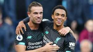 Jordan Henderson Trent Alexander-Arnold Liverpool 2019-20