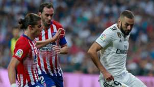 Karim Benzema Filipe Luis Diego Godin Real Madrid Atletico LaLiga 29092018