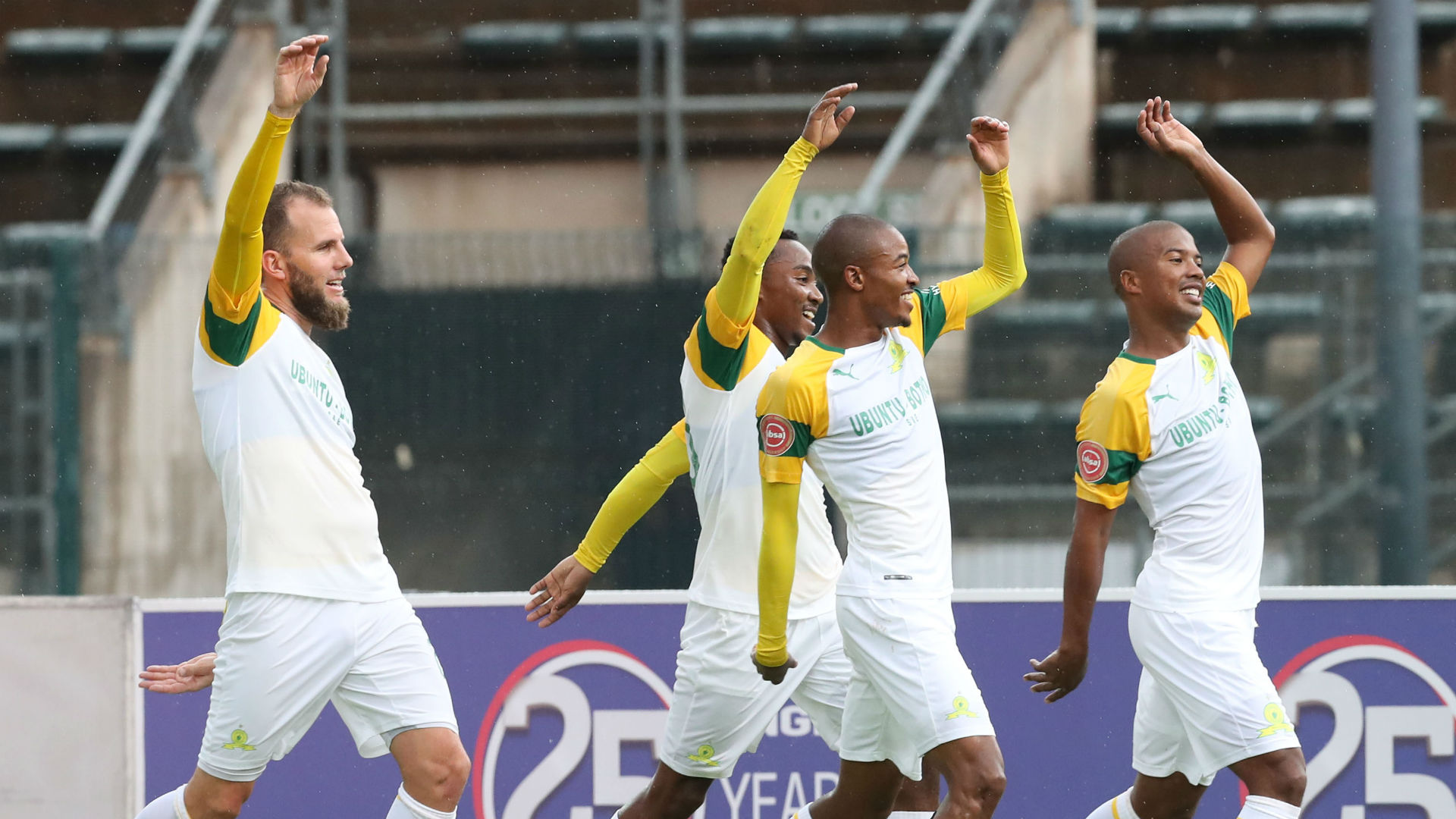 Sundowns celebrate Tshwane Derby win over SuperSport United, December 2, 2018