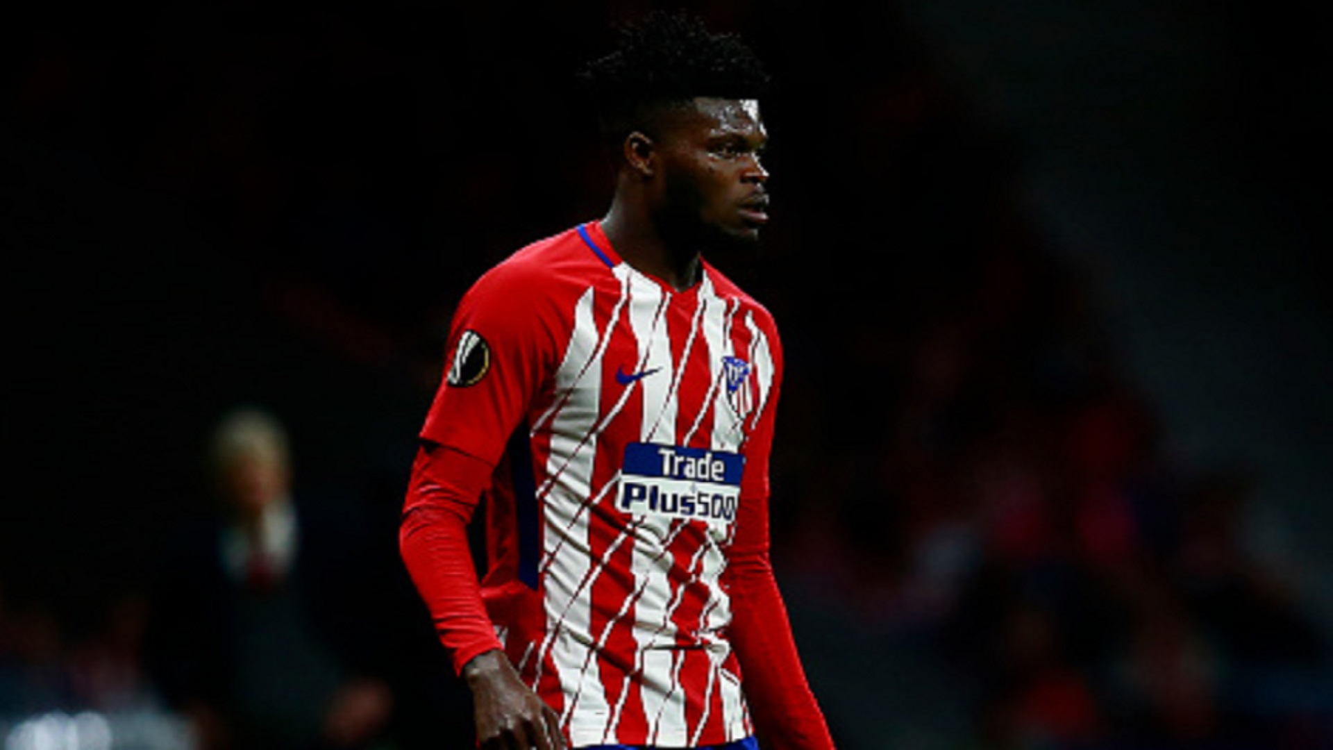 Thomas Partey of Atletico Madrid Match of the second leg of the UEFA Europa League semi-final between Atletico Madrid and Arsenal FC