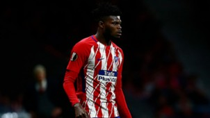 Thomas Partey of Atletico Madrid  UEFA Europa League Semi Final second leg match between Atletico Madrid and Arsenal FC