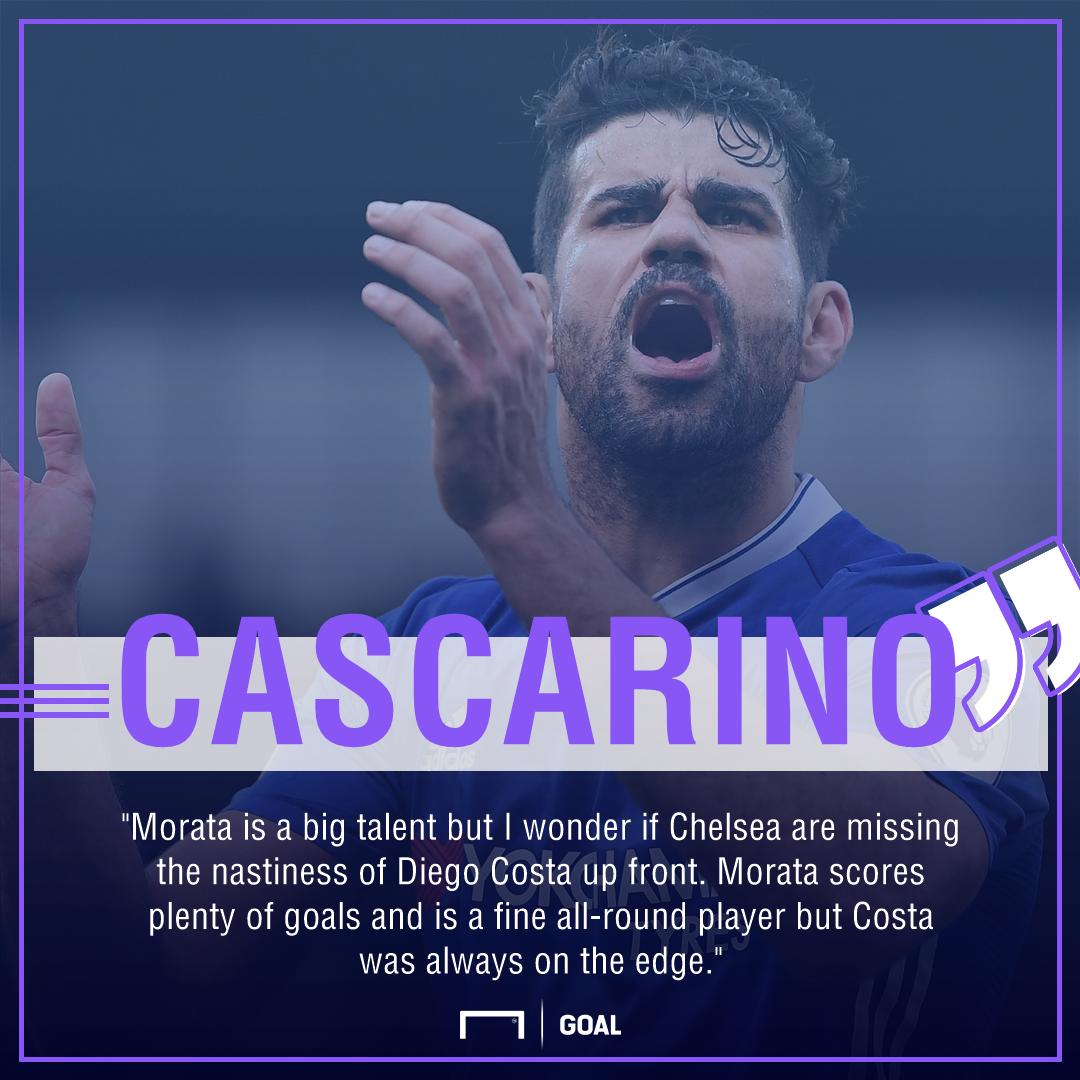 Tony Cascarino Alvaro Morata Diego Costa Chelsea nasty