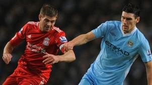 Steven Gerrard Liverpool Gareth Barry Manchester City