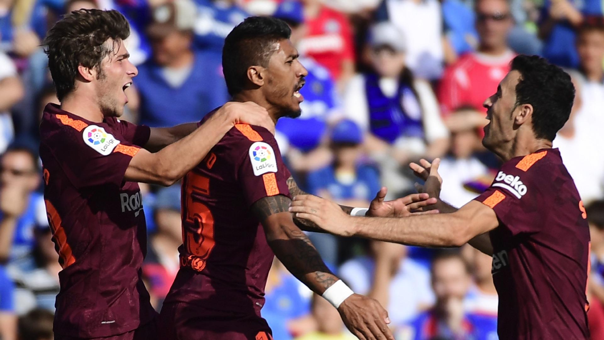 Paulinho Sergio Busquets Getafe Barcelona LaLiga 16092017
