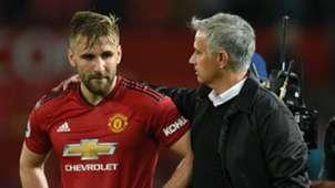 Luke Shaw Jose Mourinho Manchester United 2018-19